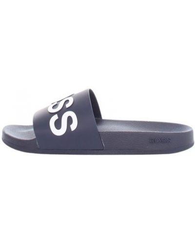Białe sandały płaska podeszwa casual Hugo Boss