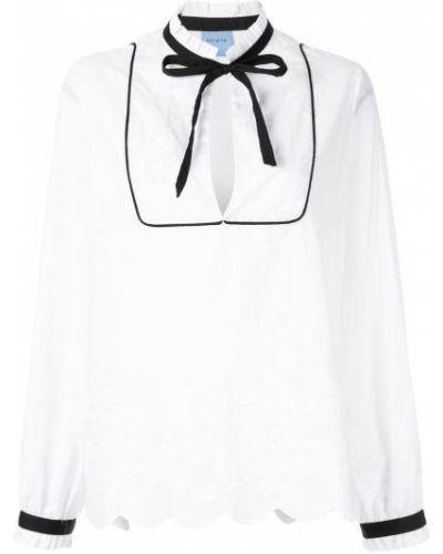 Блузка с длинным рукавом с завязками белая Macgraw