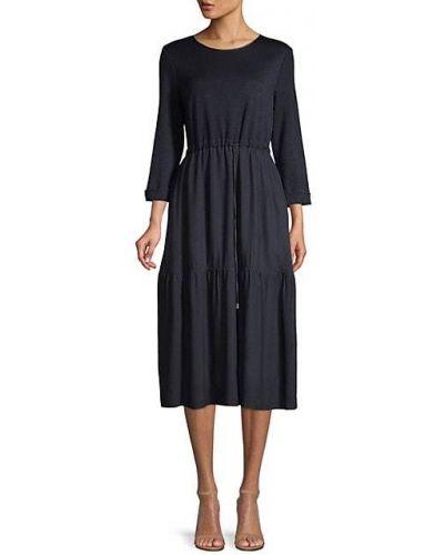 Ватное с кулиской трикотажное платье миди Peserico