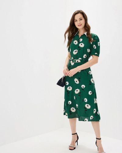 Платье прямое зеленый Ksenia Knyazeva