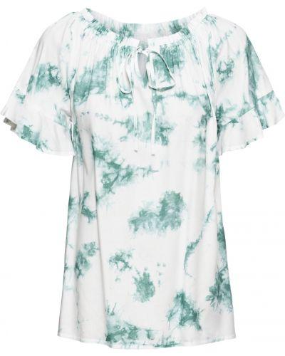 Блузка с коротким рукавом боди белая Bonprix