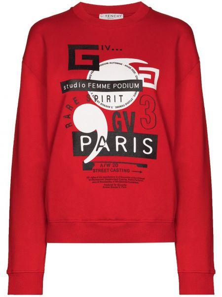 Bawełna bawełna bluza przycięte z długimi rękawami Givenchy