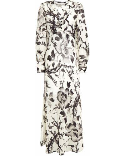 Бежевое платье миди на пуговицах с манжетами Mcq Alexander Mcqueen