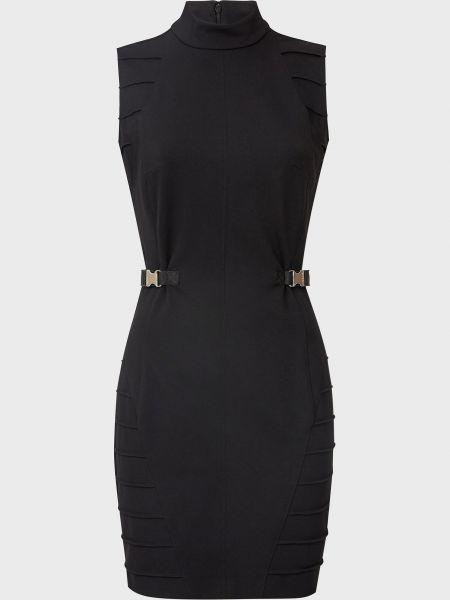 Черное платье из вискозы на молнии Versace Jeans