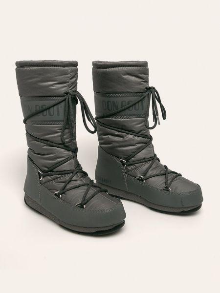 Нейлоновые сапоги на шпильке Moon Boot