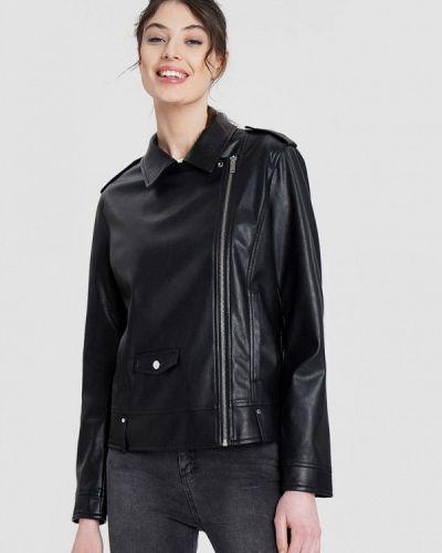 Кожаная куртка - черная O'stin