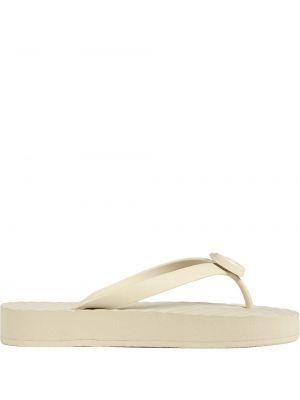 Białe klapki Gucci