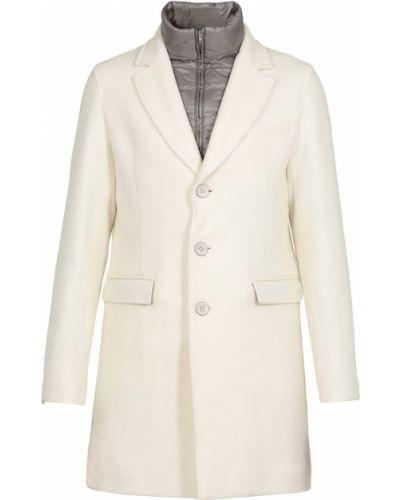 Z rękawami wełniany klasyczny płaszcz z mankietami Herno