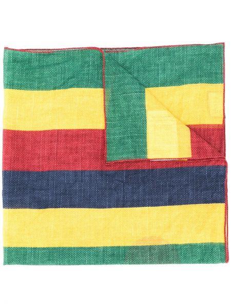 Żółty szalik w paski bawełniany Gucci
