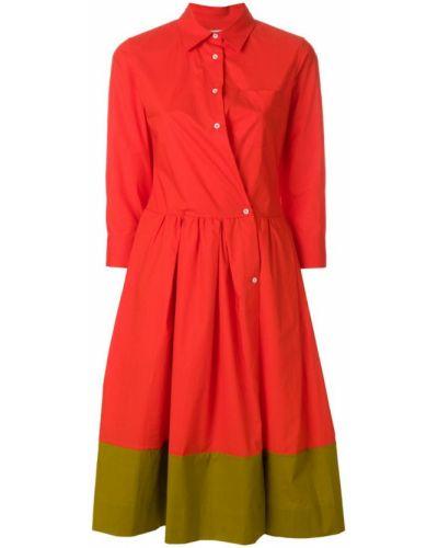 Красное платье хлопковое Sara Roka