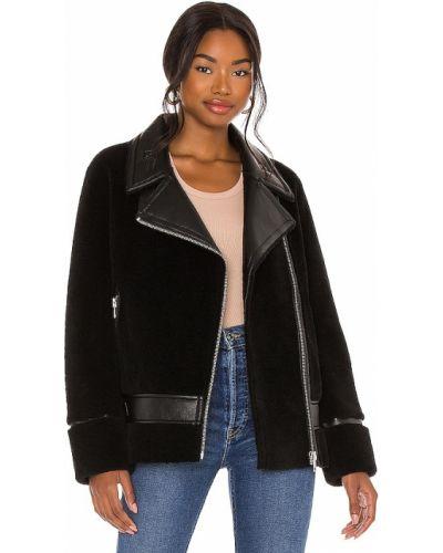 Кожаная куртка на молнии - черная Soia & Kyo