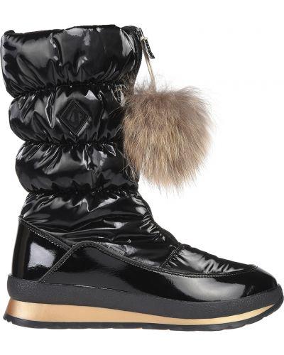 Кожаные сапоги - черные Jog Dog