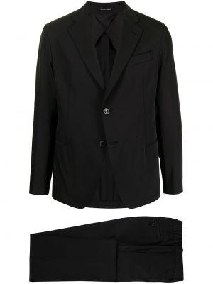 Klasyczny garnitur - czarny Emporio Armani