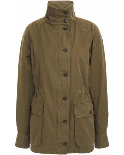 Хлопковая зеленая куртка с карманами на пуговицах Rag & Bone