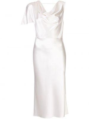 Шелковое платье миди - белое Fleur Du Mal