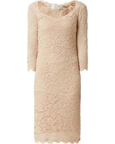 Beżowa sukienka koronkowa bawełniana Rosemunde