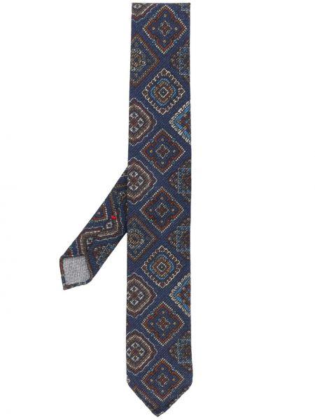 Синий шелковый галстук Dell'oglio