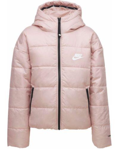 Розовая куртка с капюшоном Nike