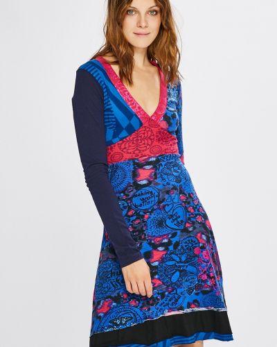 Платье мини с V-образным вырезом Desigual