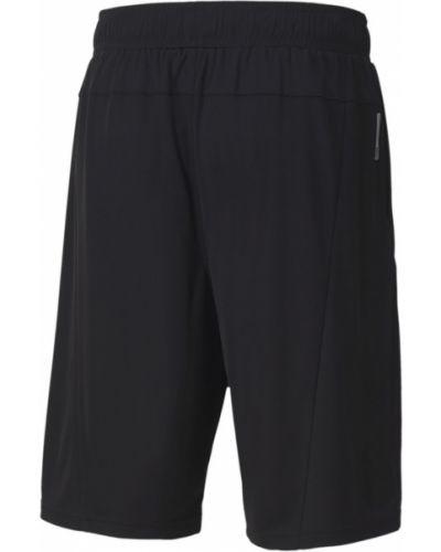 Баскетбольные черные короткие шорты с карманами свободного кроя Puma