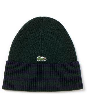 Вязаная шапка - зеленая Lacoste