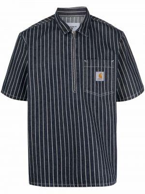 Хлопковая синяя классическая рубашка в полоску Carhartt Wip