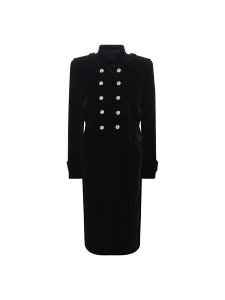 Приталенное бархатное пальто с воротником милитари Tom Ford