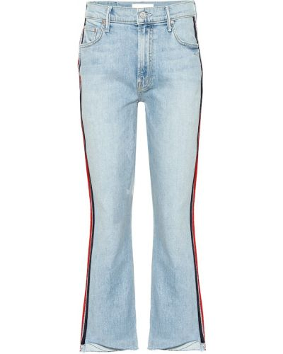 Укороченные джинсы в полоску свободные Mother