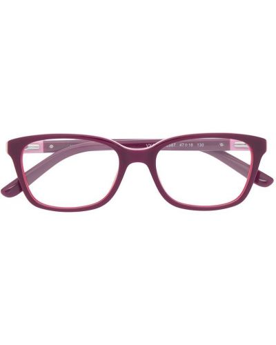 Фиолетовые очки прямоугольные прозрачные Vogue Eyewear