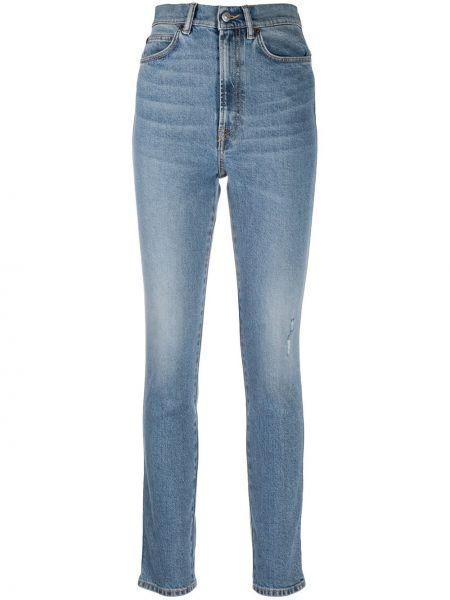 Niebieski bawełna zawężony jeansy na wysokości z kieszeniami Acne Studios