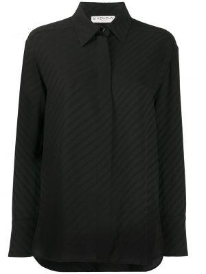 Czarna klasyczna koszula elegancka z długimi rękawami Givenchy