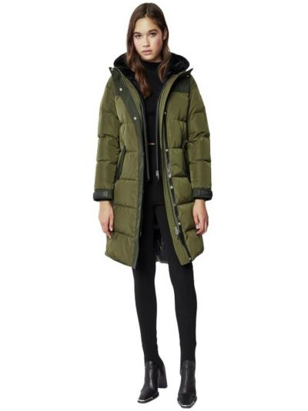 Zielony płaszcz casual Mackage