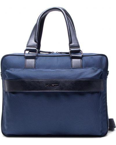 Niebieska torba na laptopa Lanetti