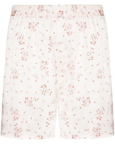 Шелковые белые шорты стрейч Frankie's Bikinis