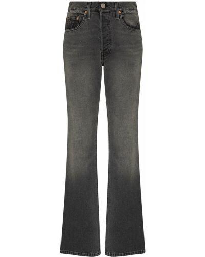 Klasyczne czarne jeansy bootcut z wysokim stanem Re/done