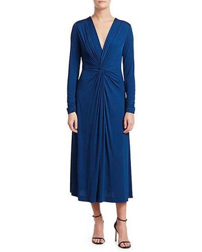 Свободное трикотажное платье миди с длинными рукавами Escada