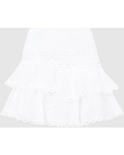 Белая юбка мини Charo Ruiz