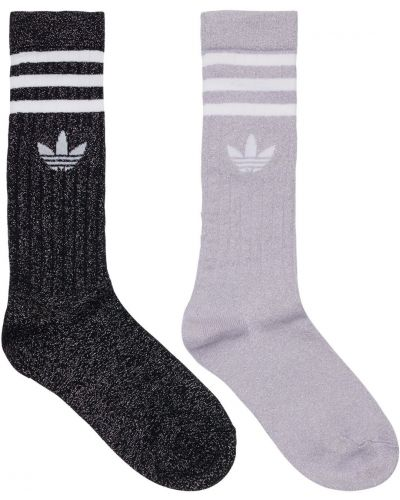 Fioletowe skarpety Adidas Originals
