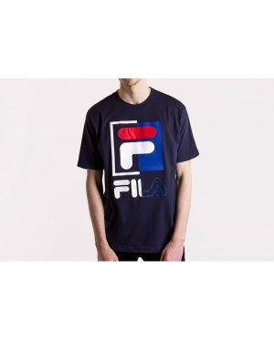 T-shirt bawełniany oversize z printem Fila