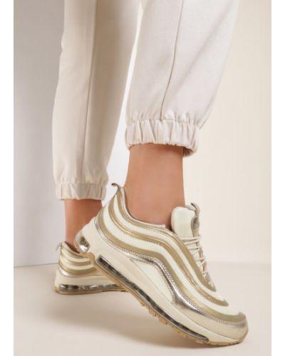 Żółte złote sneakersy Renee