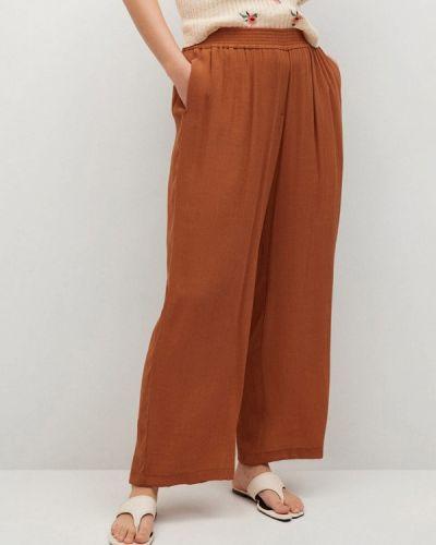 Коричневые широкие брюки Violeta By Mango