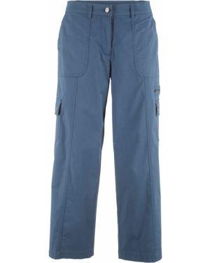 Спортивные брюки карго с накладными карманами Bonprix