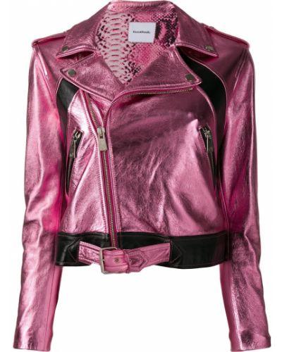 Кожаная куртка длинная байкерская Coco Cloude