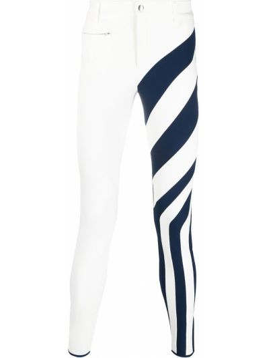 Białe spodnie rurki bawełniane z paskiem Kiko Kostadinov