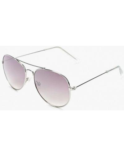 Солнцезащитные очки серебряного цвета Aldo