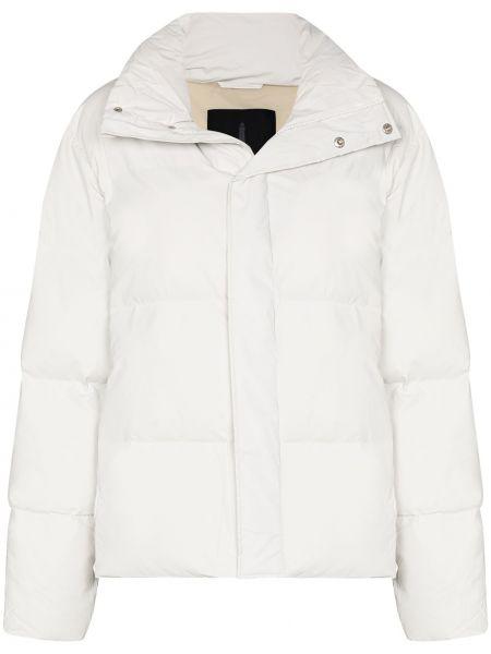 Нейлоновая белая дутая куртка Rains