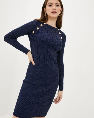 Ватное хлопковое синее вязаное платье Fresh Cotton