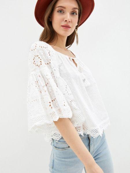Блузка с открытыми плечами белая весенний Fresh Cotton
