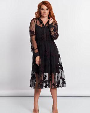 Вечернее платье платье-комбинация на пуговицах Jetty