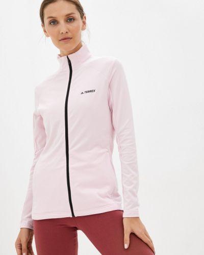 Розовая зимняя толстовка Adidas